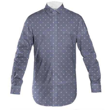 Weed Leaf Print Dress Shirt