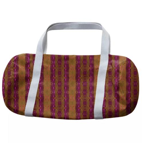 Vertical Stripe Duffle Bag