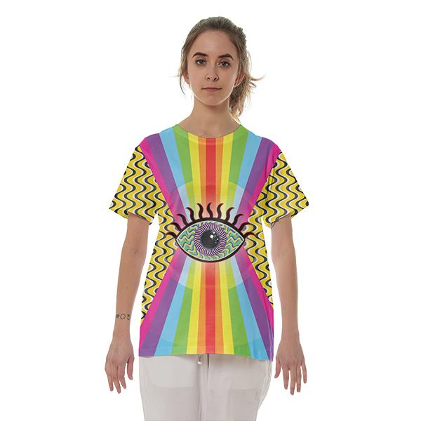 Radial Eye Cotton T shirt