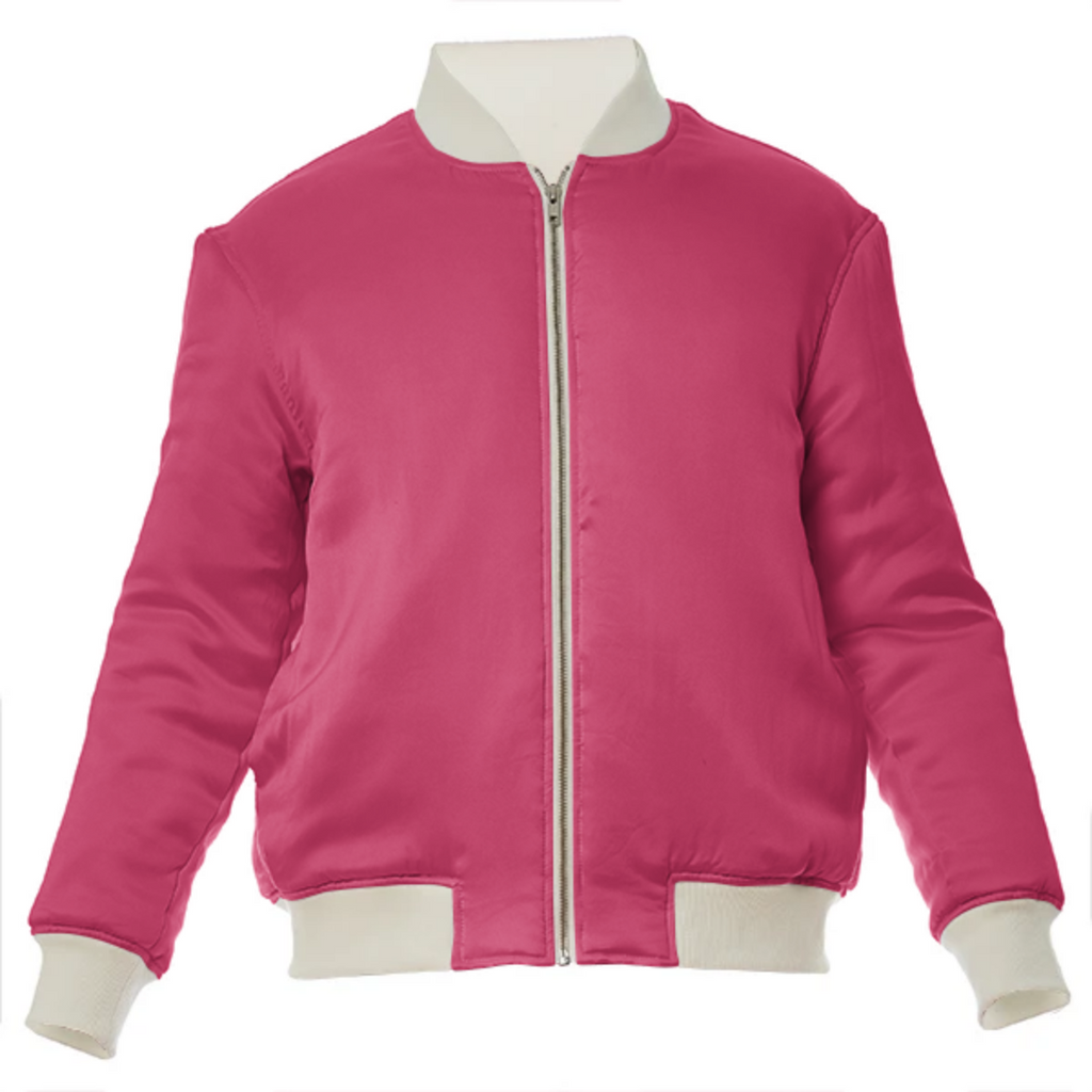 color cherry VP silk bomber jacket