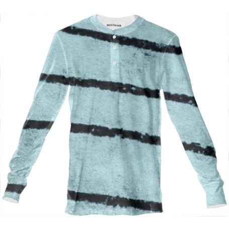 Black Blue Stripes Long Sleeve