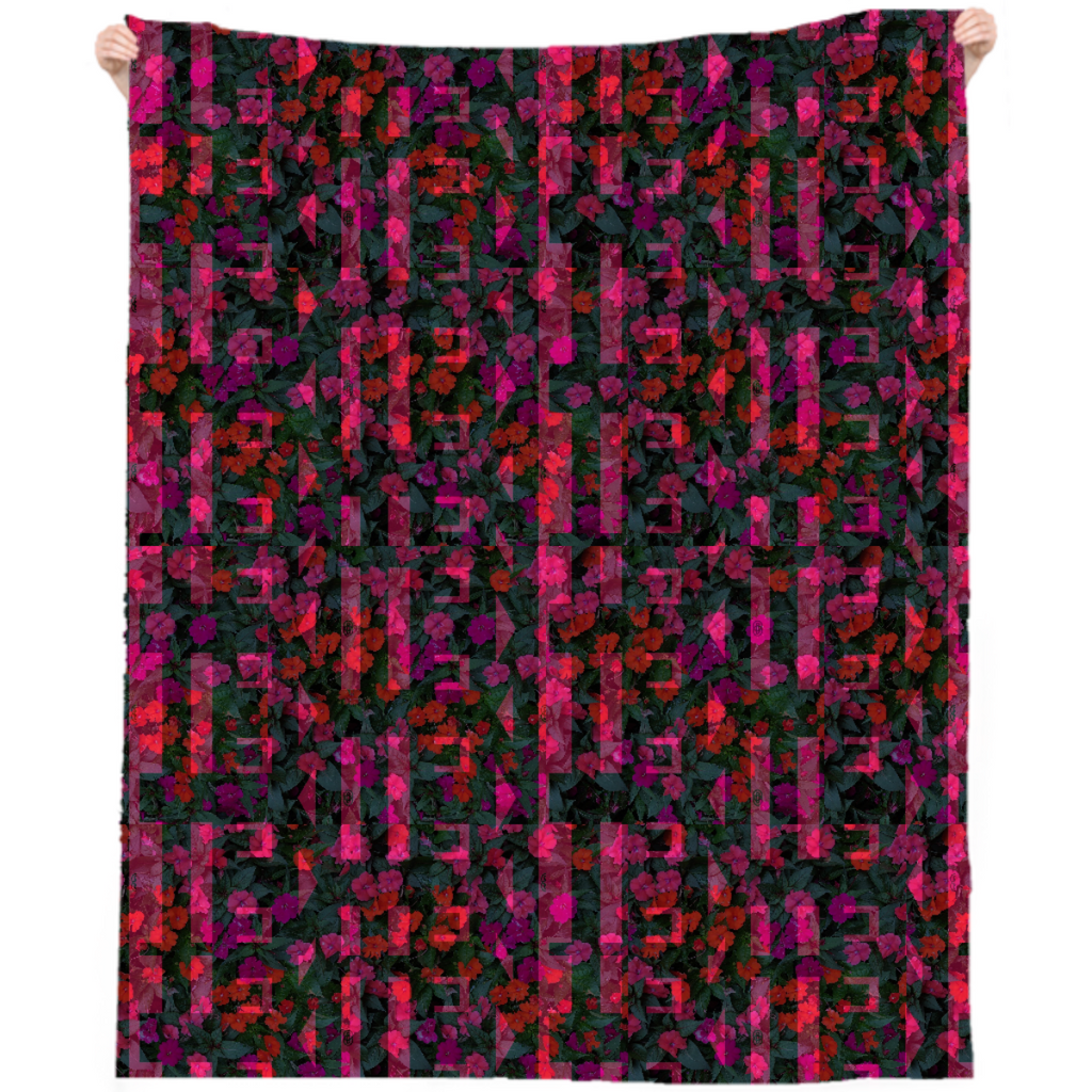 Chicago Flowers w/ TEN weave 1 overlay beach throw