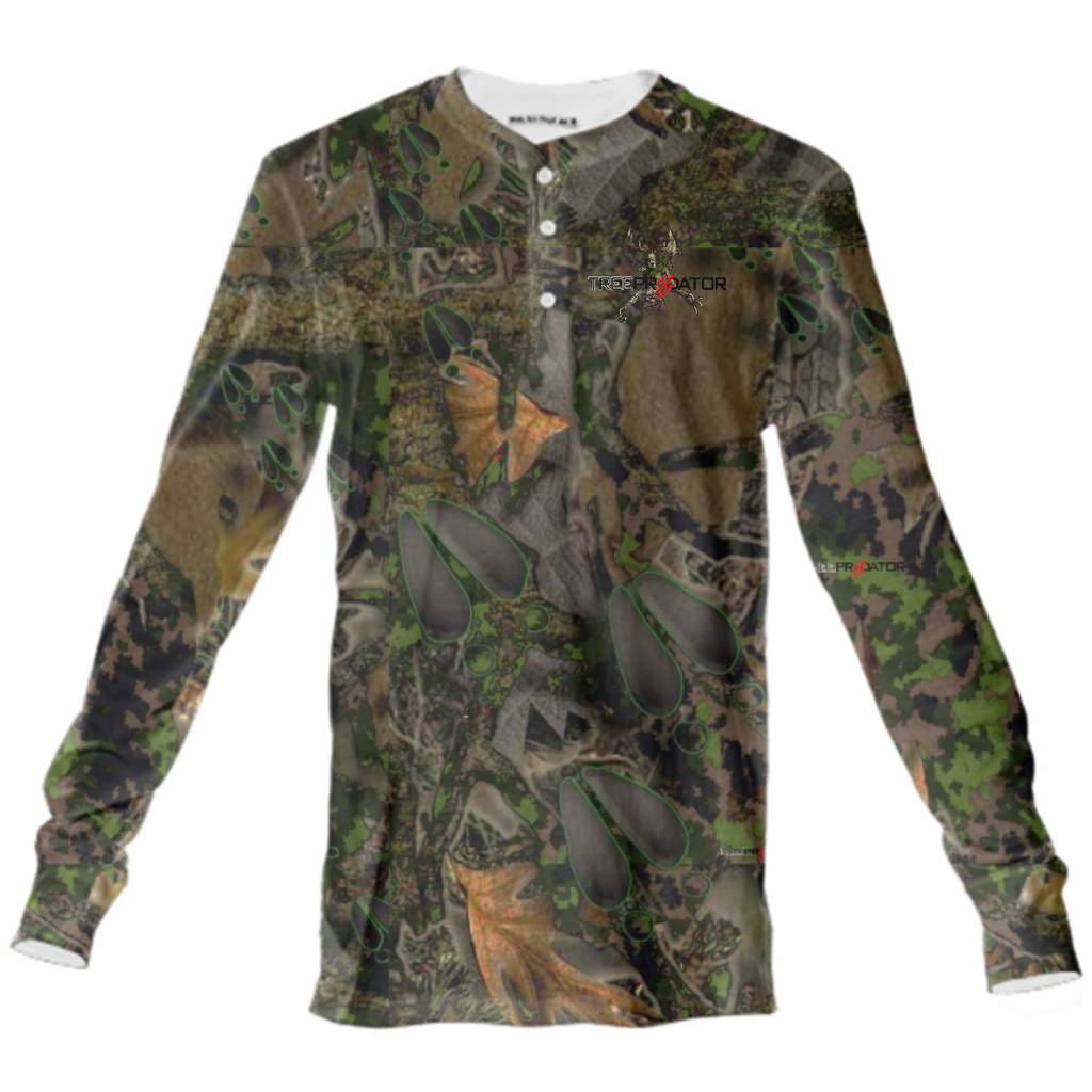 Kloak series camo Henley long sleeve shirt