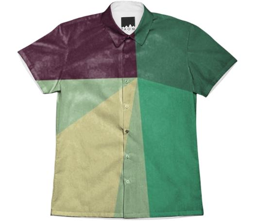 Green Radiant Prism Work Shirt