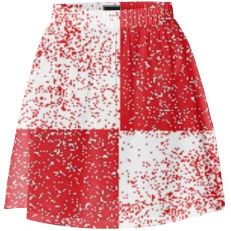 Frost Red and White Checkered Mini Skirt by LadyT Designs