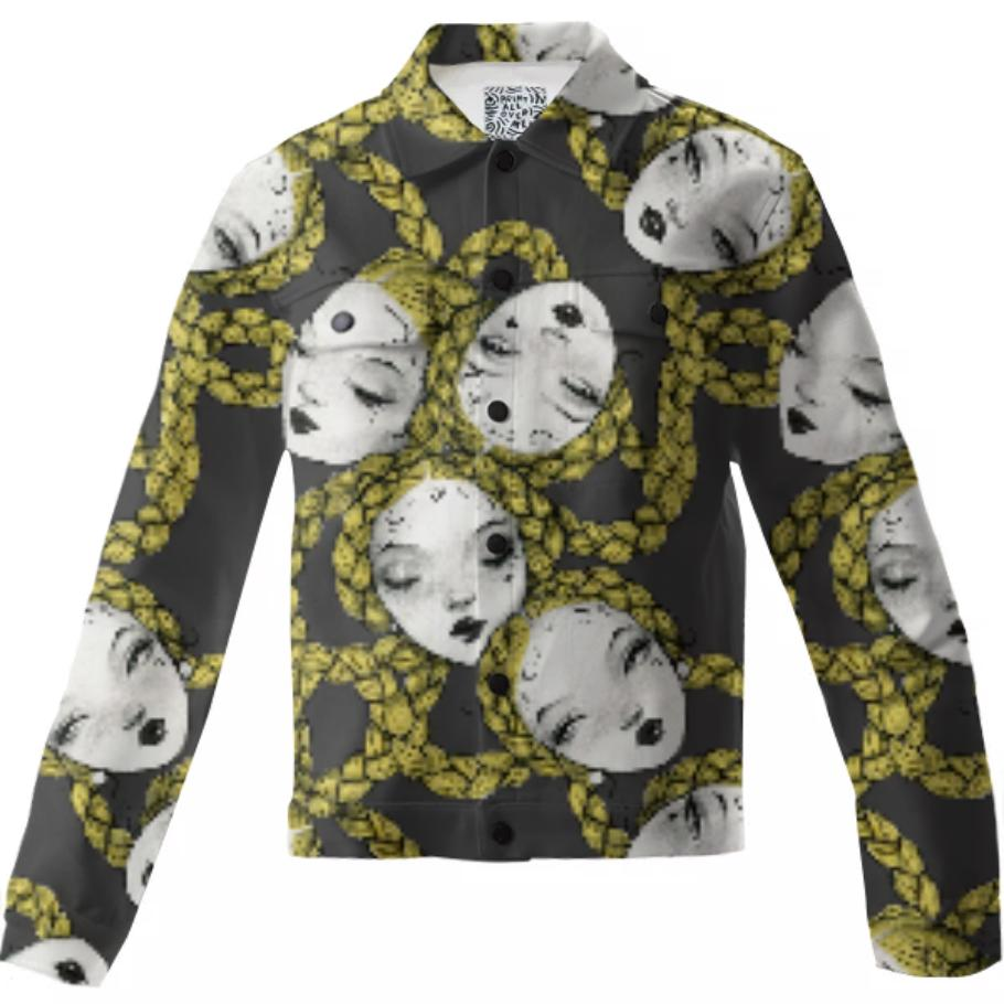 PAOM, Print All Over Me, digital print, design, fashion, style, collaboration, pidgin-doll, pidgin doll, Twill Jacket, Twill-Jacket, TwillJacket, Pidgin, Black, autumn winter, unisex, Cotton, Outerwear