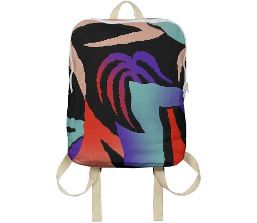 PAOM, Print All Over Me, digital print, design, fashion, style, collaboration, gambette, Backpack, Backpack, Backpack, DJONGLE, BACK, PACK, autumn winter spring summer, unisex, Poly, Bags