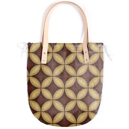 Red and Gold Diamond Summer Tote