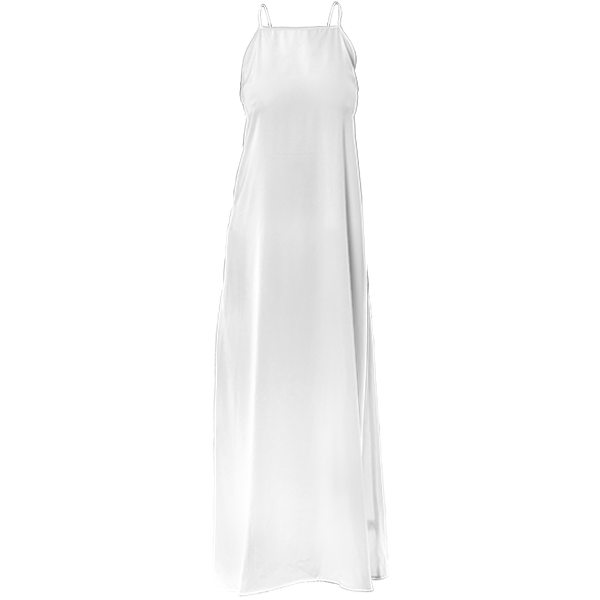 Poly Twill Maxi Dress
