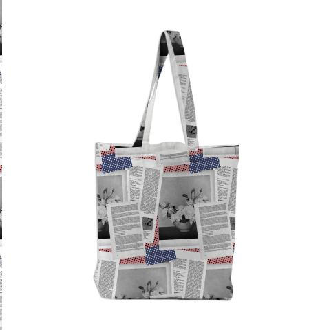 PAOM, Print All Over Me, digital print, design, fashion, style, collaboration, beccalofchie, Tote Bag, Tote-Bag, ToteBag, Flowers, Texts, autumn winter spring summer, unisex, Poly, Bags