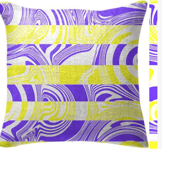 Abstract in yellow and purple pillow