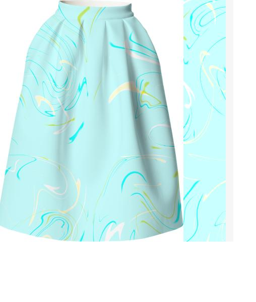 Strange dream in mint neoprene skirt