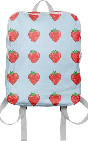 pixelated strawberry backpack