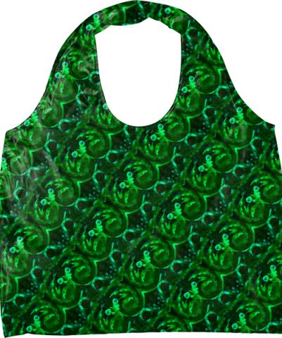 Eyes 10 Green Pattern Eco Tote