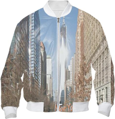 City Scapes New York Bomber Jacket by LadyT Designs