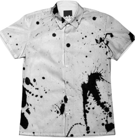Grunge Splatter Men s Shirt