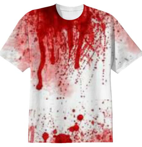 Blood Splatter Halloween Shirt