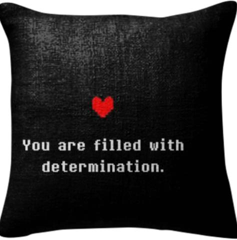 Determination Undertale Pillow