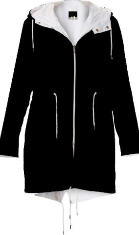 Black LadyT Design Raincoat