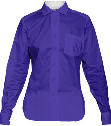Purple Blue Womens Blouse by LadyT Designs