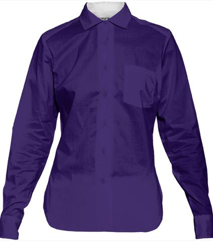 Deep Purple Blue Blouse by LadyT Designs