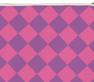 Pastel checkered clutch
