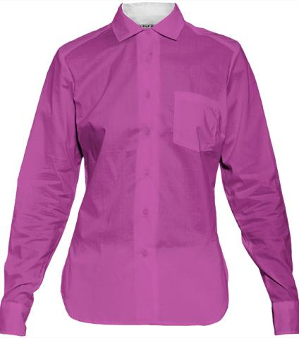 Dark Hot Pink Womens Blouse by LadyT Designs