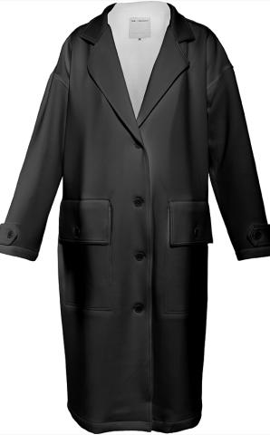 Black Neoprene Trenchcoat by LadyT Designs