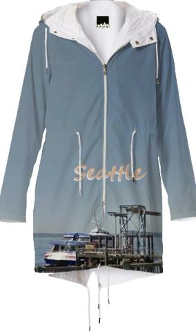 City Scapes Seattle Raincoat by LadyT Designs