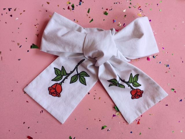 The Rose Bowtie white