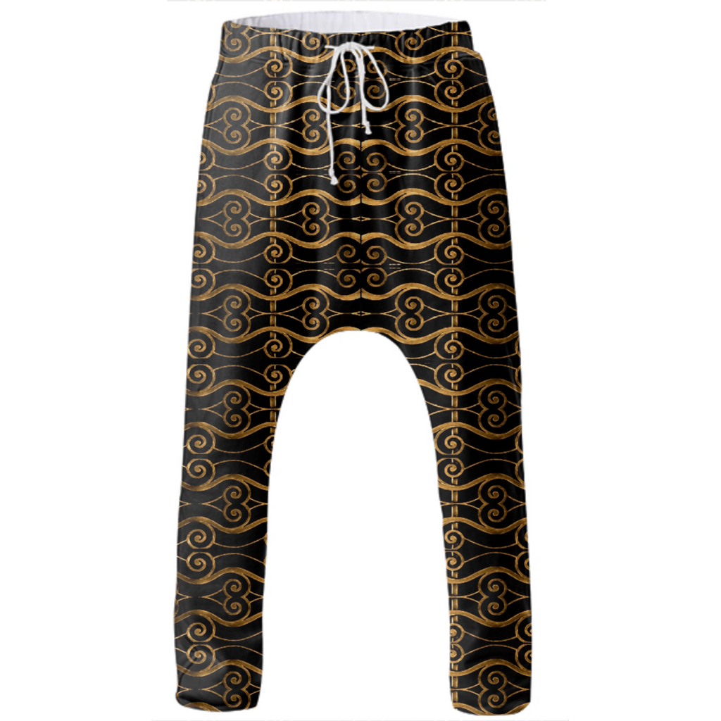 Luxury Golden Oriental Ornate Pattern