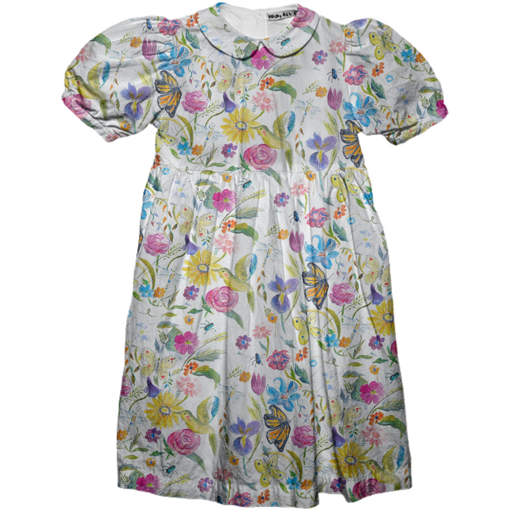 Mini me whimsical floral kids dress