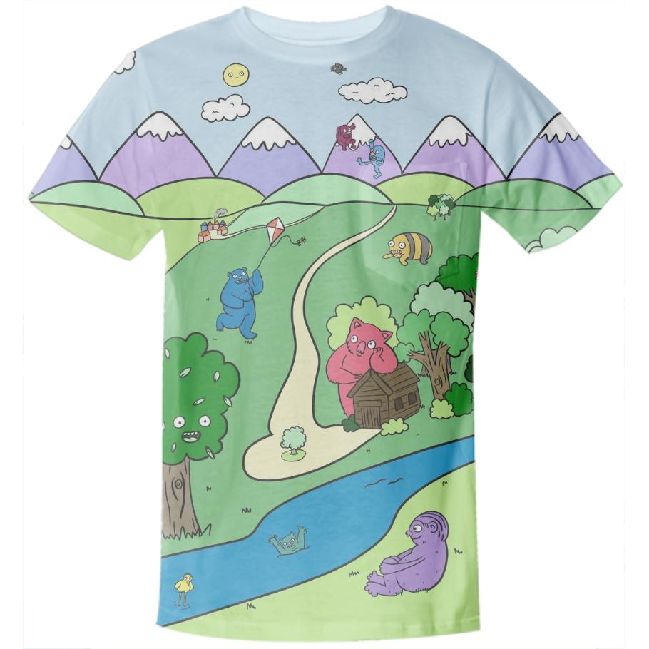Monster Valley Pocket Tee