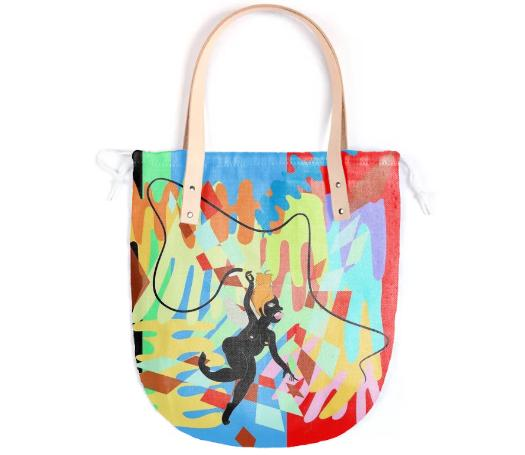 PAOM, Print All Over Me, digital print, design, fashion, style, collaboration, theresachromati, Summer Tote, Summer-Tote, SummerTote, Whip, Leather, Handle, spring summer, unisex, Poly, Bags