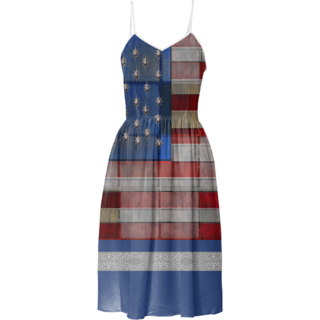 Vintage Patriotic Summer Dress