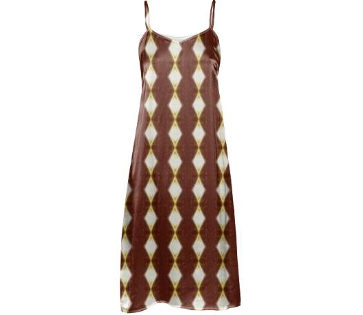 African Cream Diamond Slip Dress