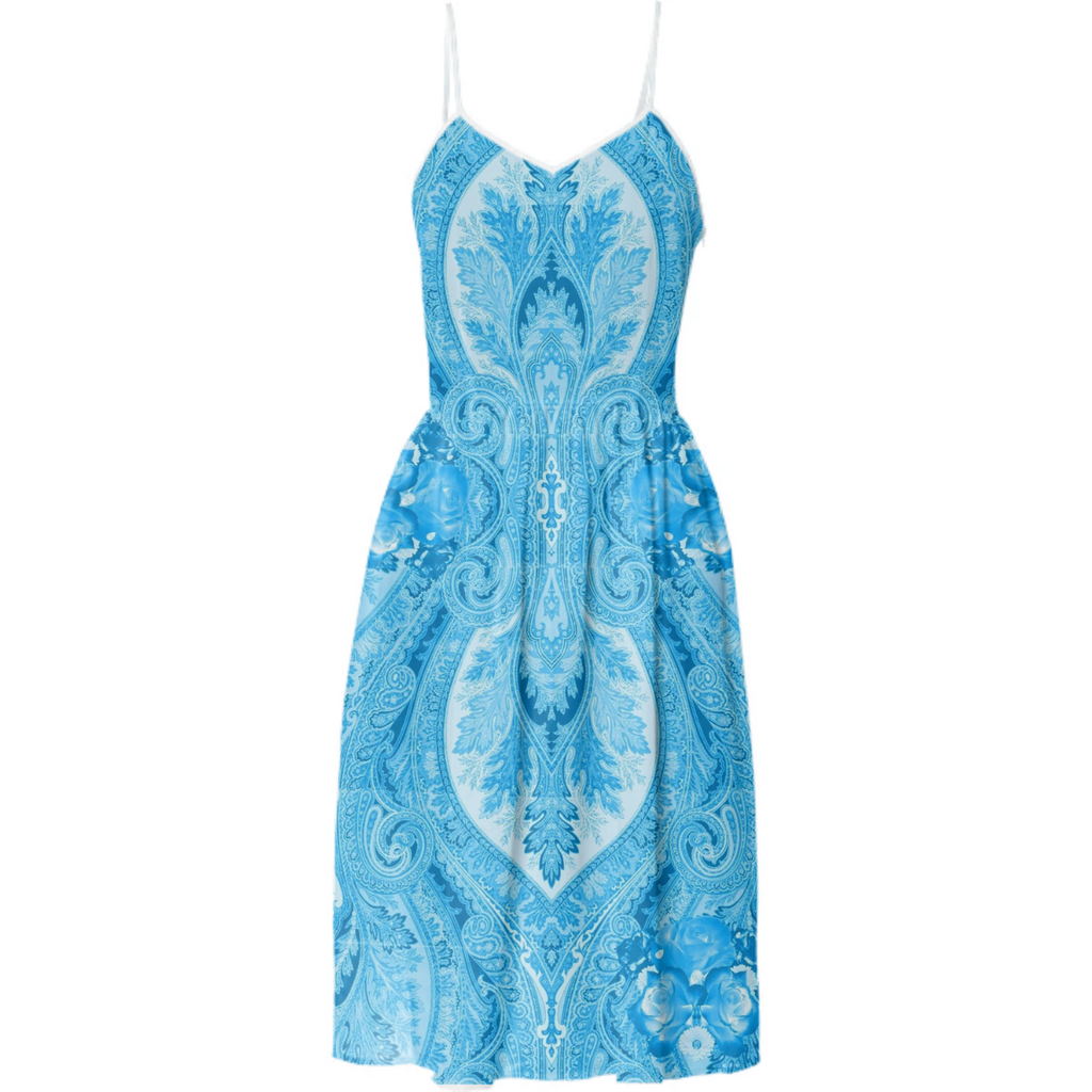 Blue Porcelain Paisley Tea Dress