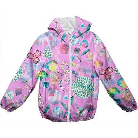 Bubblegum Garden Children s Raincoat