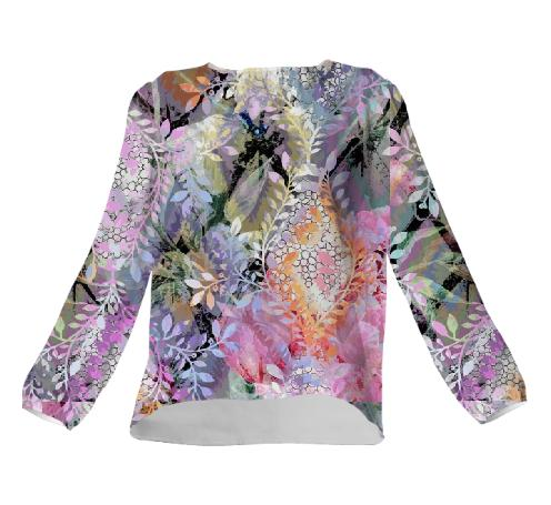 PatriciaAnn Brubaker Garden of Whispers Silk Blouse