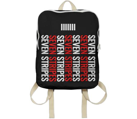 Seven Stripes Backpack Black Multi Colored