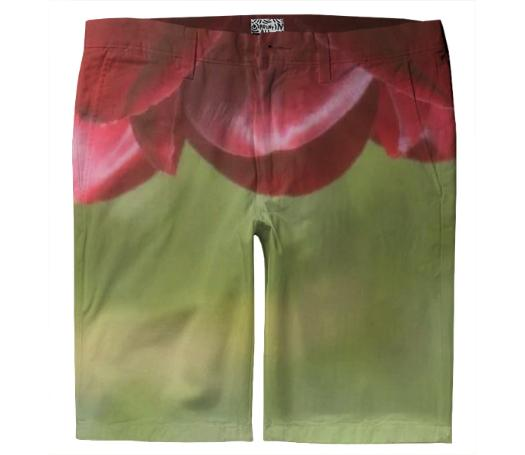 Cranberry Green Petal Shorts