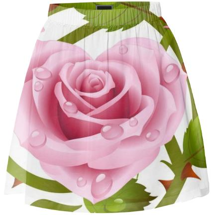 Tribal Rose Summer Skirt PINK