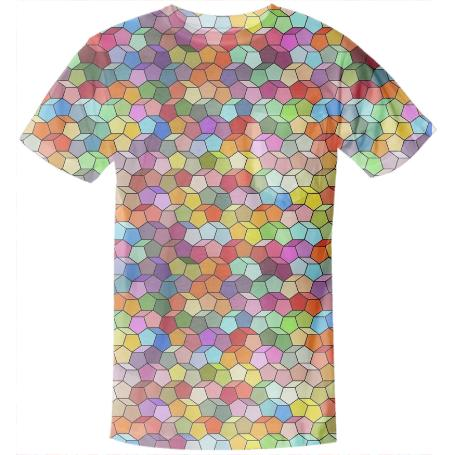 Colorful Geometric Polygon Pattern Pocket Shirt
