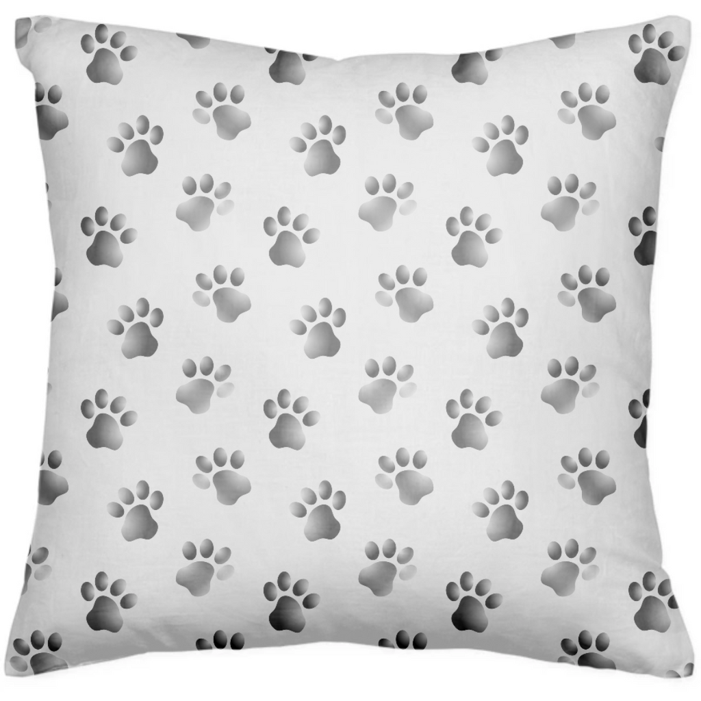 Black and White Dog Cat Paw Prints