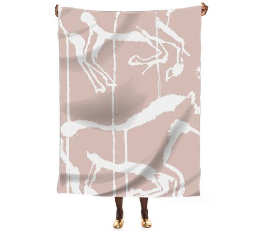large horse silk scarf