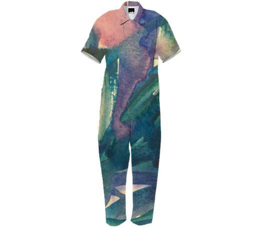 Watercolor River Jumpsuit