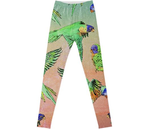 Alykat Rainbow Lorikeet Leggings