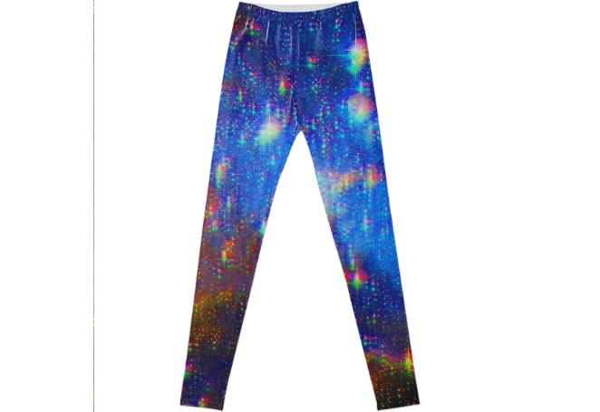 Glitchy Starscape Leggings