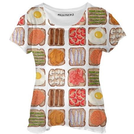Breakfast Toast Drape Shirt