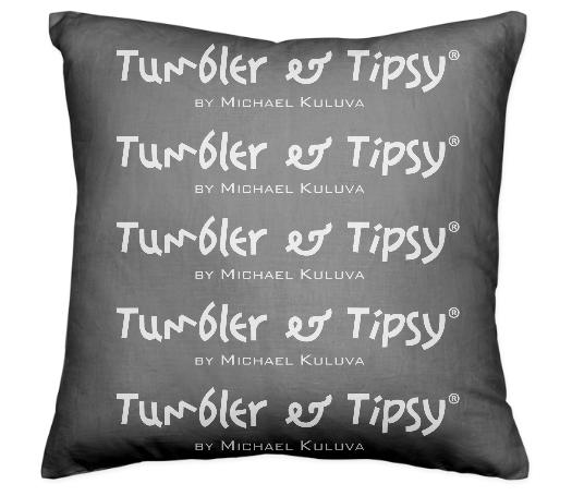 Tumbler and Tipsy Pillow